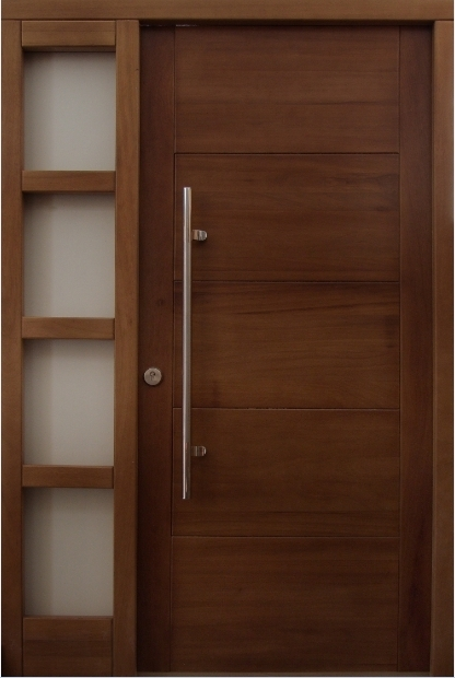 Puerta exterior denia iroko for Puertas de pvc exterior