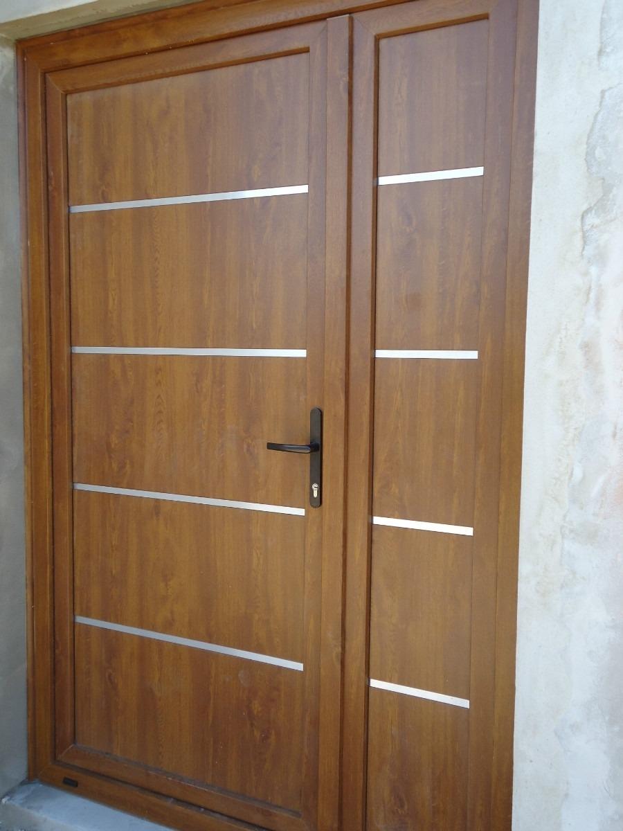 Creaciones estilo carpinter a cocinas muebles for Pintura para puerta de madera exterior
